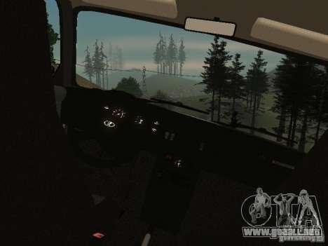 VAZ 2107 v1.1 para la visión correcta GTA San Andreas