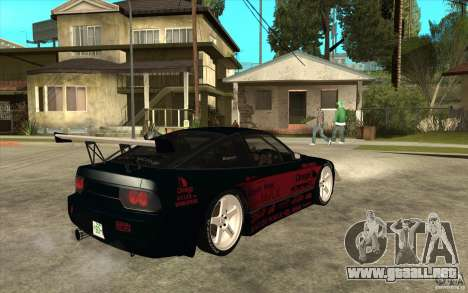 Nissan 180SX - Koguchi Power para la visión correcta GTA San Andreas