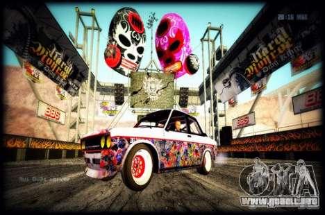 Datsun 510 Monster Energy para GTA San Andreas vista posterior izquierda