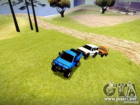 Chevrolet Silverado OFFRoad para visión interna GTA San Andreas