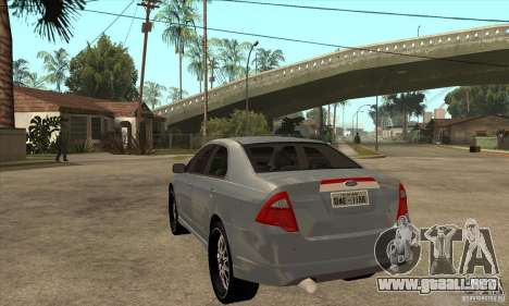 Ford Fusion V6 DUB 2011 para GTA San Andreas vista posterior izquierda