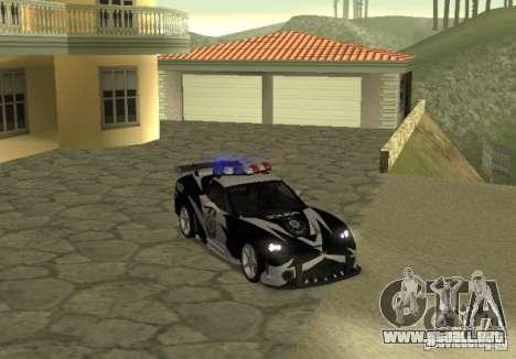 Chevrolet Cross Corvette C6 para la visión correcta GTA San Andreas