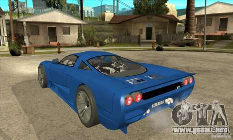 Saleen S7 Twin Turbo Custom Tuned para GTA San Andreas vista posterior izquierda
