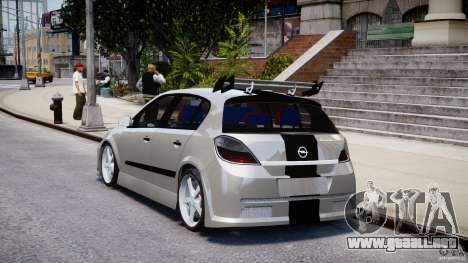 Opel Astra 1.9 TDI 2007 para GTA 4 Vista posterior izquierda