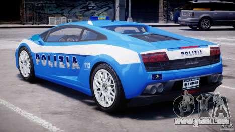 Lamborghini Gallardo LP560-4 Polizia para GTA 4 visión correcta