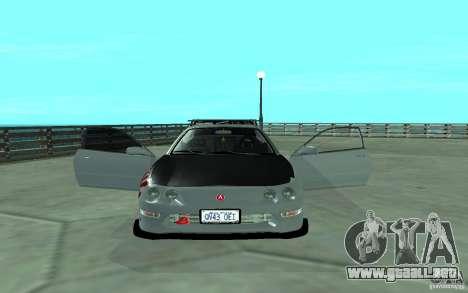 Acura Integra Type-R para visión interna GTA San Andreas