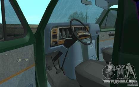 Ford E-150 Short Version v2 para visión interna GTA San Andreas