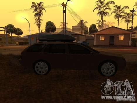 Skoda Octavia para vista lateral GTA San Andreas