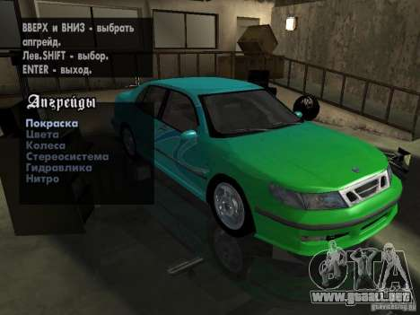 Saab 9-5 Aero Sedan para vista lateral GTA San Andreas