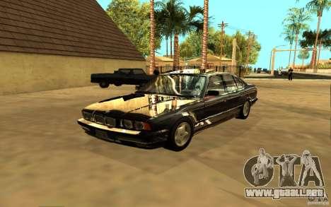 BMW 525 (E34) para la visión correcta GTA San Andreas