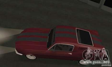 Ford Mustang 1968 para GTA San Andreas vista posterior izquierda