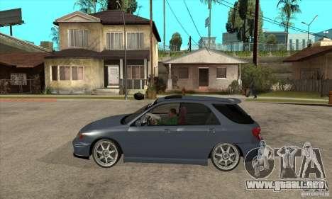 Subaru Impreza Universal para GTA San Andreas left