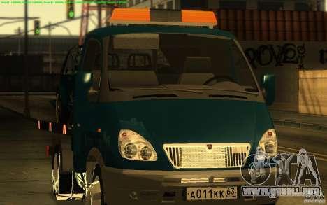 Camión de remolque 14 3302-gacela para GTA San Andreas left