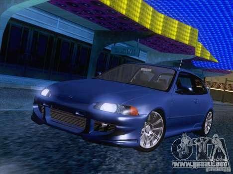 Honda Civic IV GTI para GTA San Andreas vista posterior izquierda