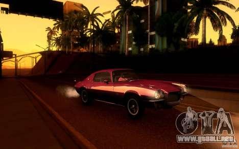Chevrolet Camaro Z28 para las ruedas de GTA San Andreas