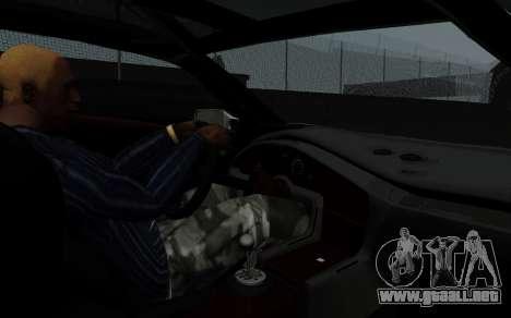 Lamborghini Diablo GTR TT Black Revel para GTA San Andreas vista hacia atrás