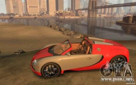 2009 Bugatti Veyron Grand Sport [EPM] para GTA 4 left