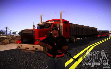 Kenworth W 900L para GTA San Andreas interior