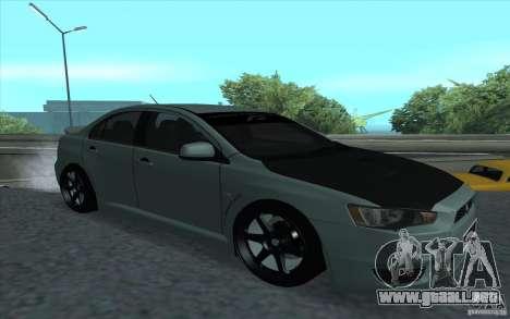 Proton Inspira Stance para GTA San Andreas vista hacia atrás
