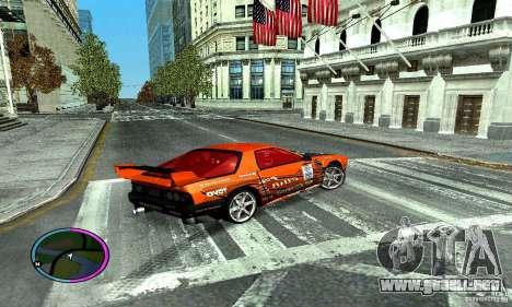 Mazda RX-7 FC for Drag para la visión correcta GTA San Andreas