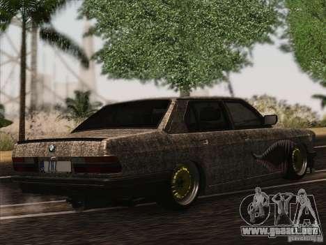 BMW E28 525E RatStyle para GTA San Andreas vista hacia atrás
