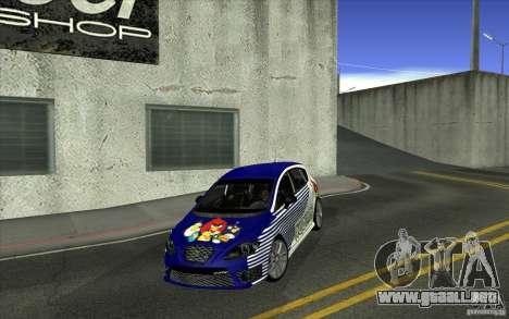 Seat Leon Cupra R para vista inferior GTA San Andreas