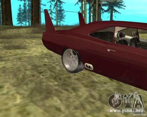 Dodge Charger Daytona para GTA San Andreas vista hacia atrás