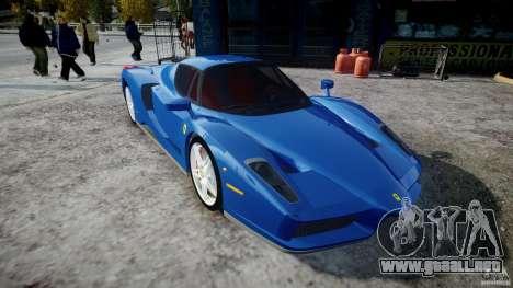 Ferrari Enzo para GTA 4 vista hacia atrás