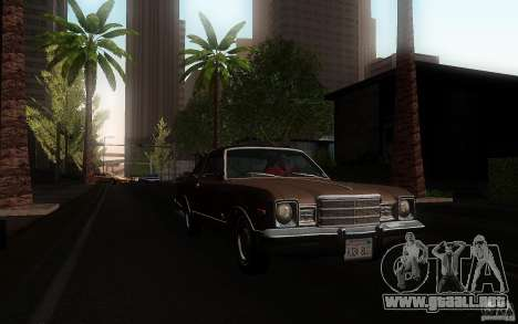 Plymouth Volare Coupe 1977 para vista lateral GTA San Andreas