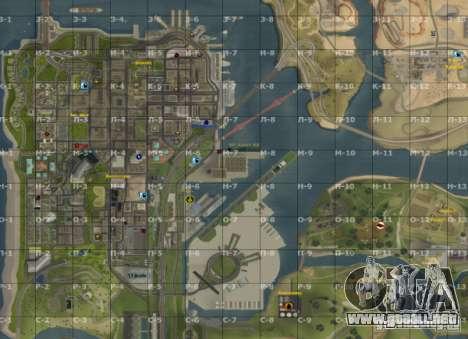 Mapa de San Andreas con actualización v7 para GTA San Andreas tercera pantalla