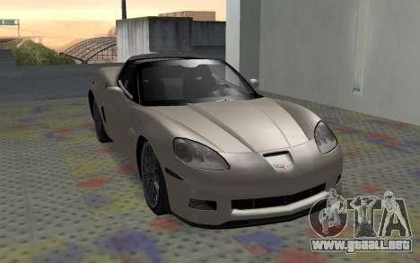 Chevrolet Covette Z06 para GTA San Andreas left