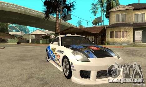 Nissan 350z Stock - Tunable para la vista superior GTA San Andreas