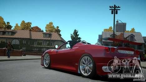 Ferrari F430 Spider para GTA 4 vista hacia atrás