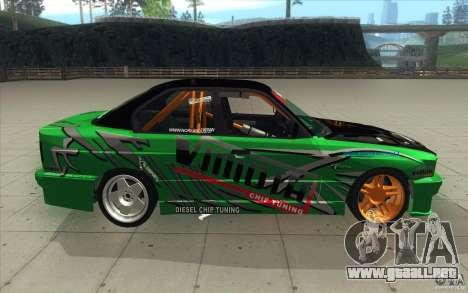 BMW E34 V8 Wide Body para visión interna GTA San Andreas