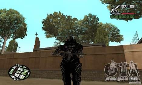 Alex Mercer v2 para GTA San Andreas sucesivamente de pantalla