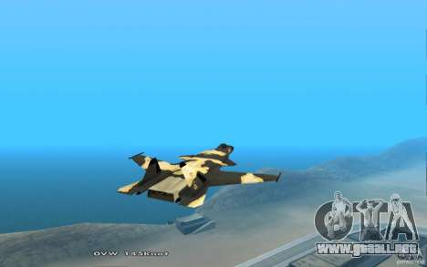 Su-32 Golden Eagle para GTA San Andreas vista hacia atrás
