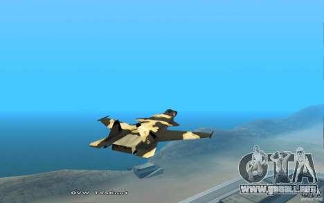 Su-32 Golden Eagle para GTA San Andreas vista hacia atrás
