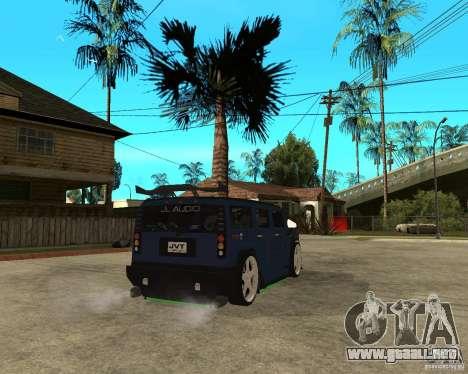 AMG H2 HUMMER Jvt HARD exclusive TUNING para GTA San Andreas