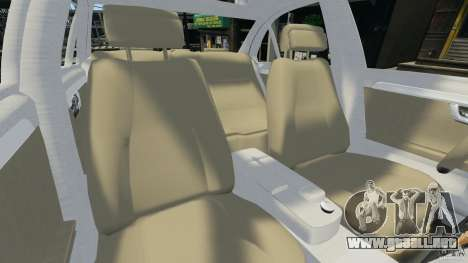 Mercedes-Benz C350 Avantgarde v2.0 para GTA 4 vista interior