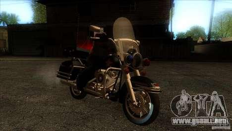 Harley Davidson para GTA San Andreas vista hacia atrás