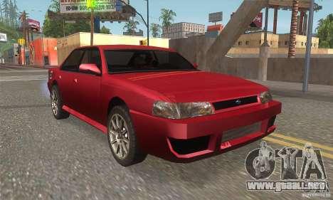 New Sultan HD para GTA San Andreas vista hacia atrás