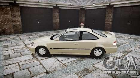 Honda Civic Coupe para GTA 4 vista interior