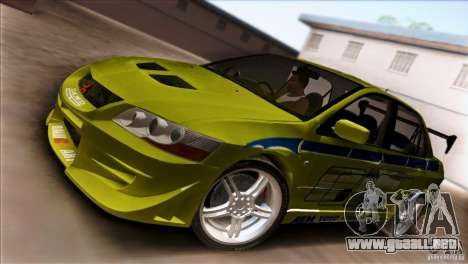 Mitsubishi Lancer Evo VII 2F2F para GTA San Andreas