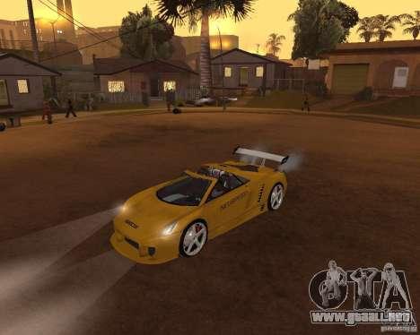 Cadillac Cien The SHARK DREAM Tuning para GTA San Andreas vista posterior izquierda