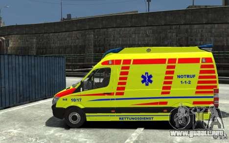 Mercedes-Benz Sprinter 2011 Ambulance para GTA 4 left