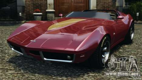 Chevrolet Corvette Sting Ray 1970 Custom para GTA 4