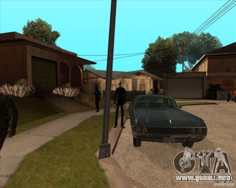 Delgado en gafas oscuras para GTA San Andreas tercera pantalla
