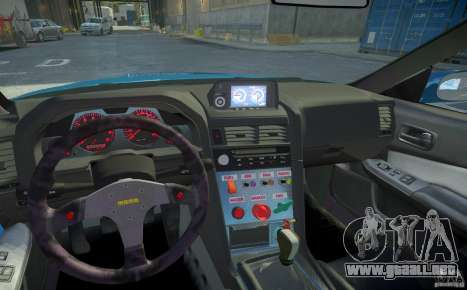 Nissan Skyline GT-R R34 Fast and Furious 4 para GTA 4 vista desde abajo