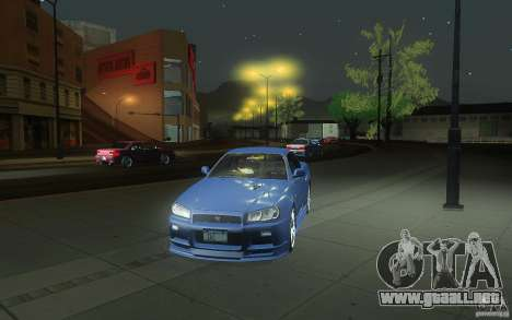 Nissan Skyline GT-R R34 M-spec Nur para la vista superior GTA San Andreas