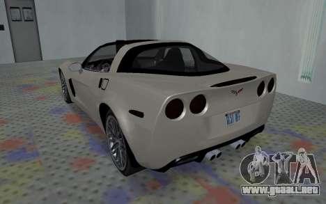 Chevrolet Covette Z06 para la visión correcta GTA San Andreas